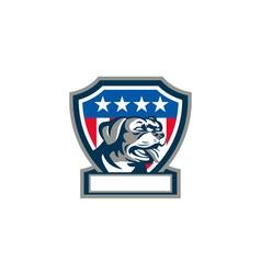 Rottweiler guard dog usa flag crest retro vector