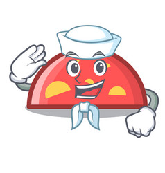 sailor semicircle character cartoon style vector image