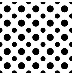 seamless monochrome circle pattern vector image