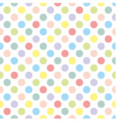 seamless pattern texture with colorful pastel dots vector image