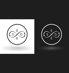 search engine - seo icon using sign of infinity vector image