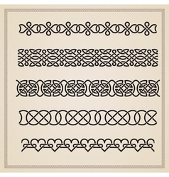Set of seamless borders vector