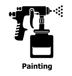 spray gun icon simple black style vector image