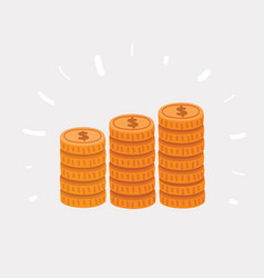 stack golden coin like income vector image