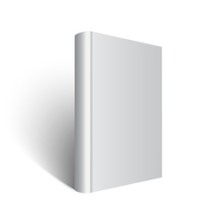 Standing gray book on white vector