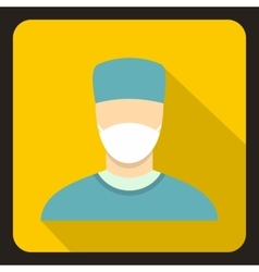Surgeon icon flat style vector