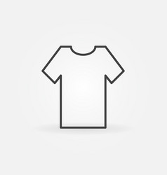 t-shirt minimal icon or design element vector image