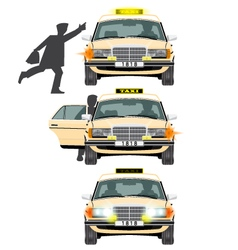 Taxi and people vector