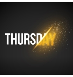 Thursday Sale Energy Explosion Concept vector