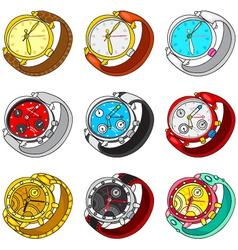watch set vector image vector image