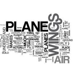 what makes an aeroplane fly text word cloud vector image