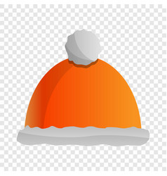 winter hat icon cartoon style vector image