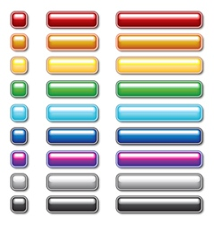 Button collection eps10 vector image vector image