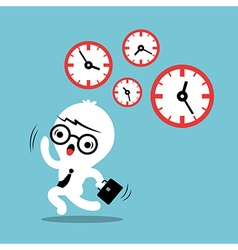 busy concept running out of time business cartoon vector image vector image