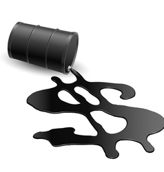Drum with spilled oil vector image