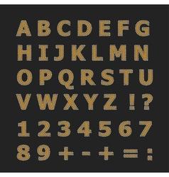English alphabet on a dark gray background vector image vector image