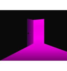 Light from the open door Ultraviolet vector image vector image