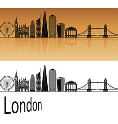 london v2 skyline vector image vector image