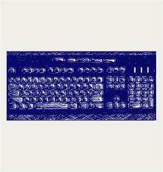 Modern computer keyboard vector image vector image