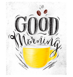 poster good morning vector image vector image