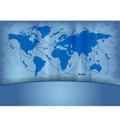 shipping transportation routes vector image