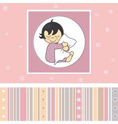 Sweet baby girl card vector image vector image