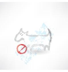 Ban dog grunge icon vector image vector image