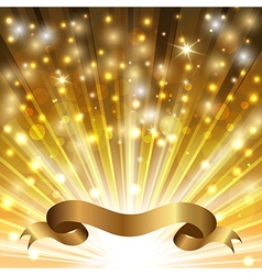 curved gold ribbon vector image vector image