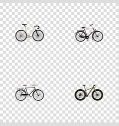 realistic fashionable road velocity bmx and vector image