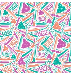 Seamless pattern for barber shop vector image vector image