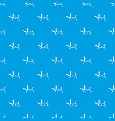 swiss multipurpose knife pattern seamless blue vector image