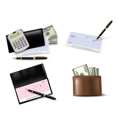 Big collection of business supplies vector image