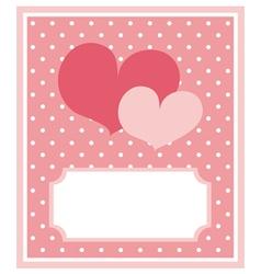 Card or invitation vector image