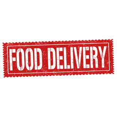 food delivery grunge rubber stamp vector image vector image