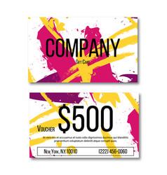 gift card concept voucher for present set vector image