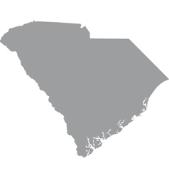 map US state of South Carolina vector image