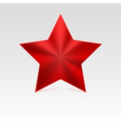Metal star with shadow vector image