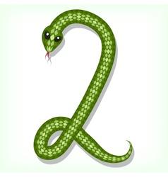 Snake font Digit 2 vector image vector image