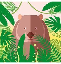 Wombat on the Jungle Background vector image vector image