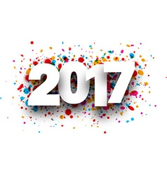2017 background with drops vector image