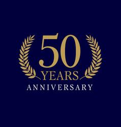 50 anniversary royal logo vector image