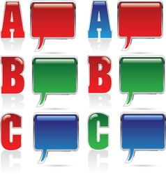 abc oblacic resize vector image