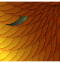 Abstract background of orange scales with color vector