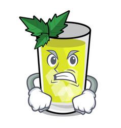 Angry mint julep mascot cartoon vector