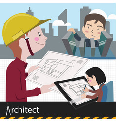 Architect work project vector