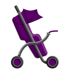 baby buggy icon cartoon style vector image