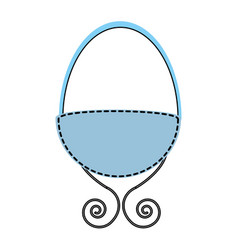 Baby crib drawing icon vector