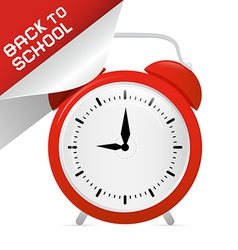 Back to School Retro with Alarm Clock vector image