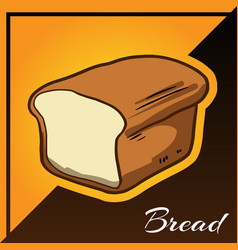 Bakery two tone background with bread vector