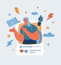 Blogging social media vector